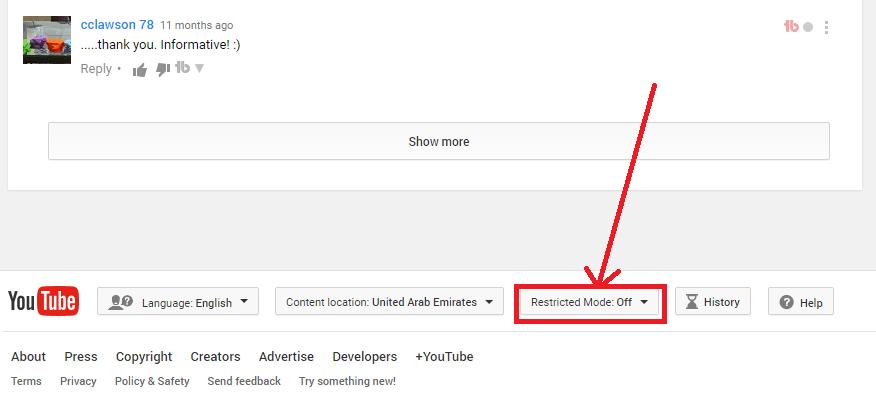youtube control parental comentarios