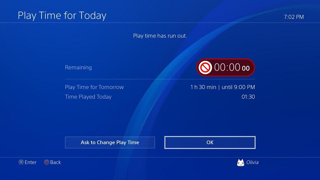 controlar tiempo juegos ps4