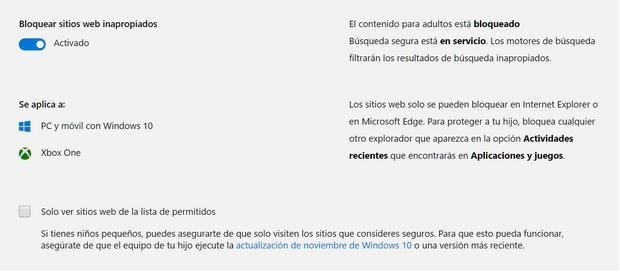 webs inapropiadas windows 10