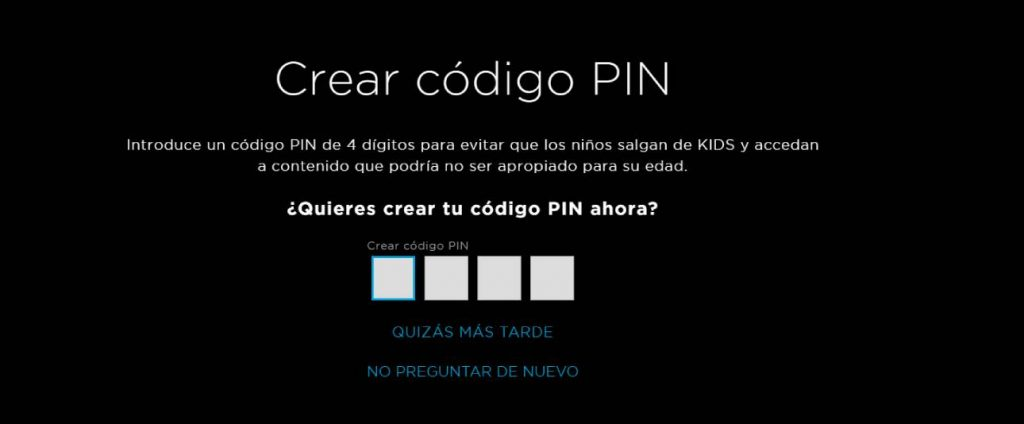 PIN control parental hbo
