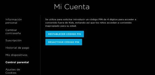 desactivar control parental PIN HBO