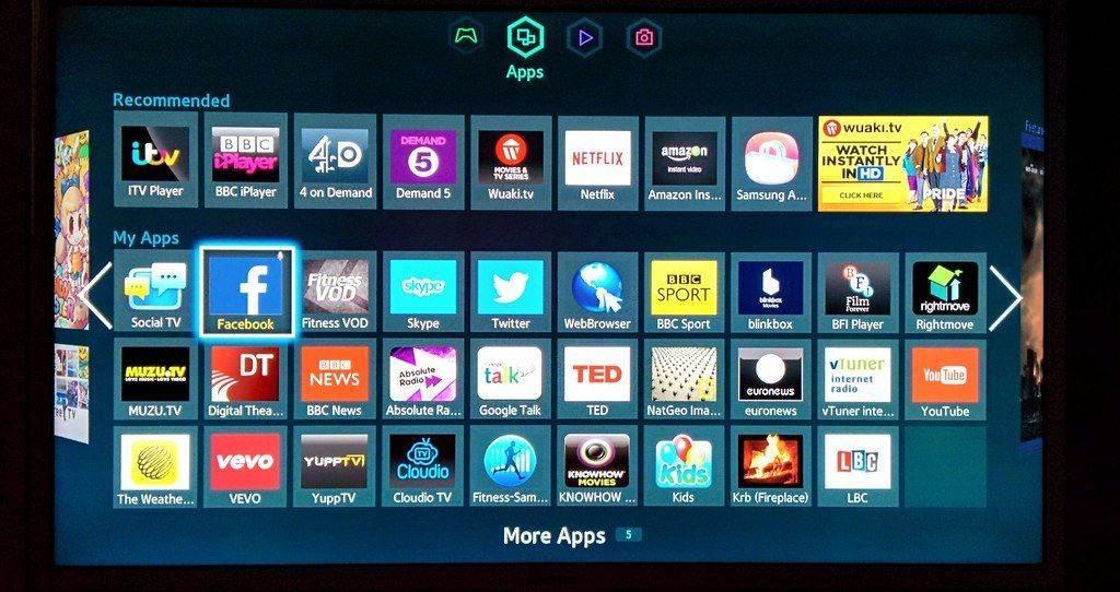 control parental Samsung TV aplicaciones